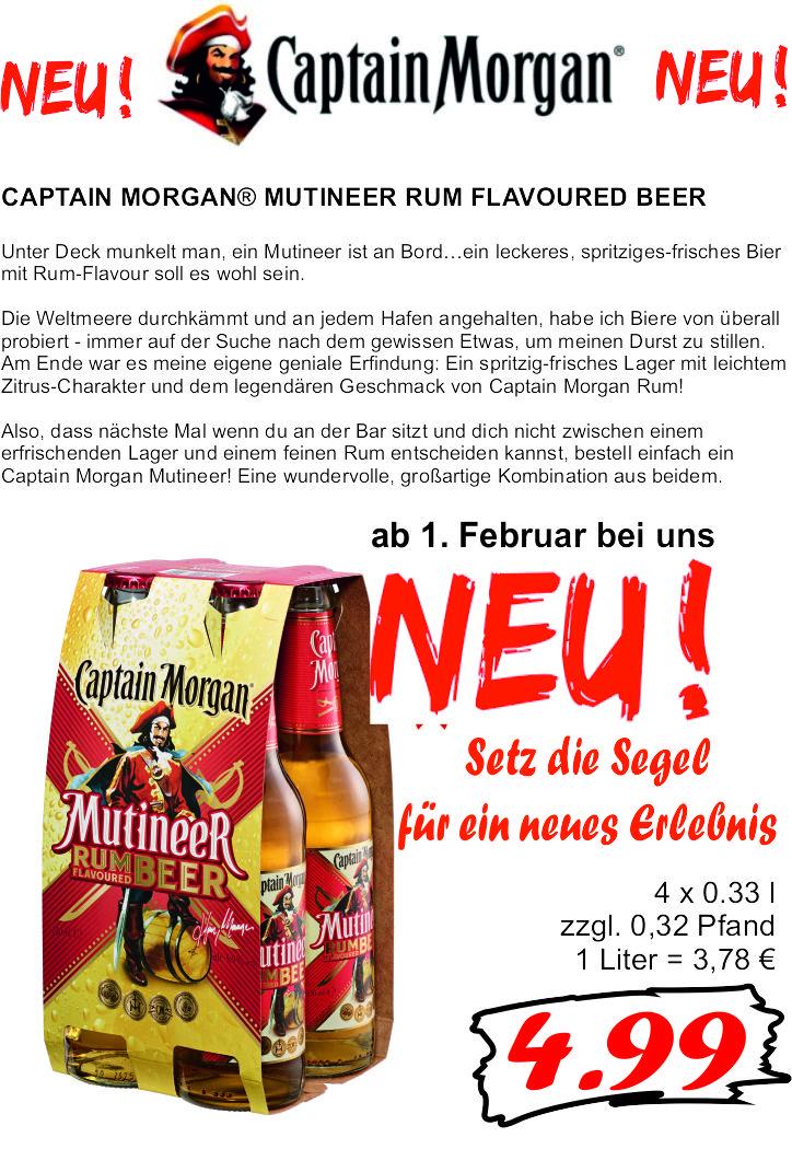 captain morgan bier angebot
