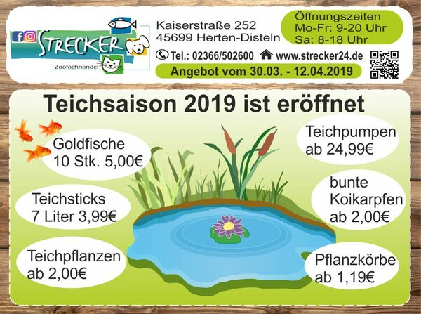 Teichsaison 2019 Angebote